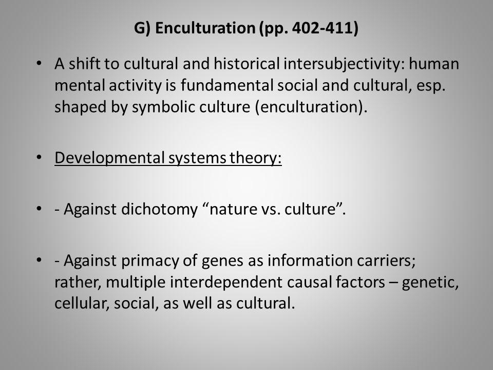 G) Enculturation (pp.