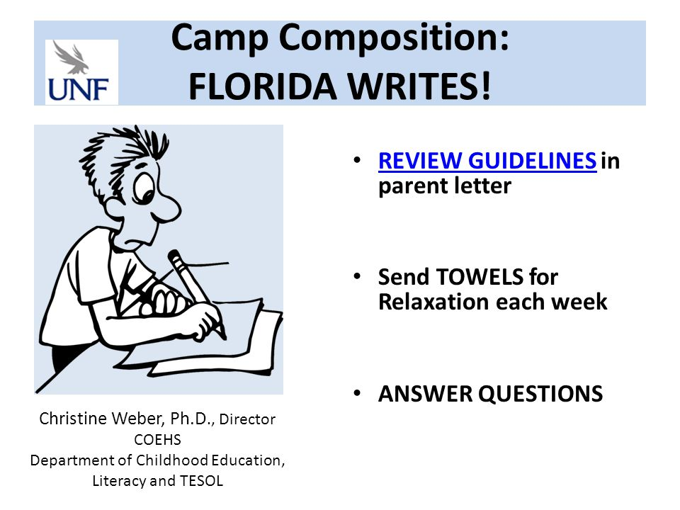 Camp Composition: FLORIDA WRITES.