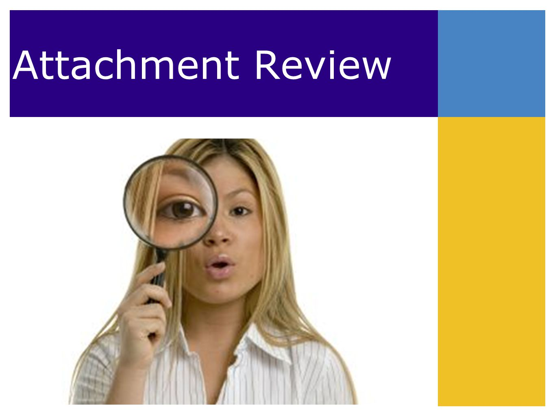 Attachment Review