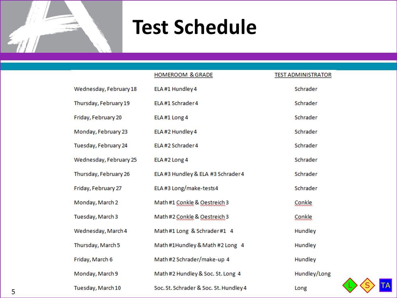Test Schedule 5