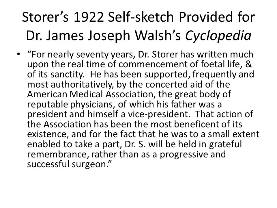 Storer's 1922 Self-sketch Provided for Dr.