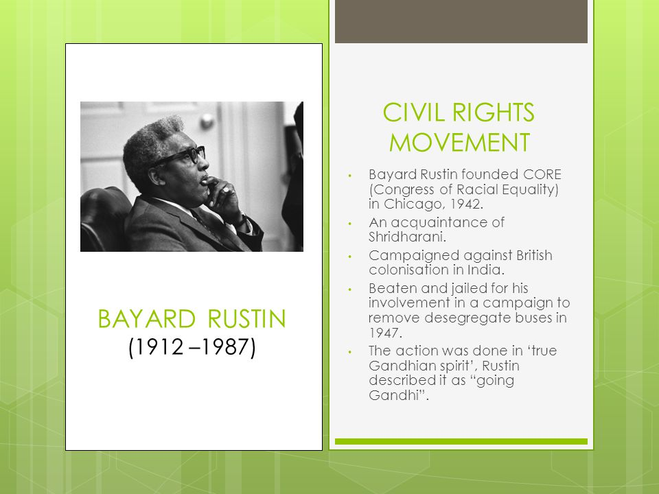 CIVIL RIGHTS MOVEMENT 2  W.E.B.Du Bois – in contact with Gregg.
