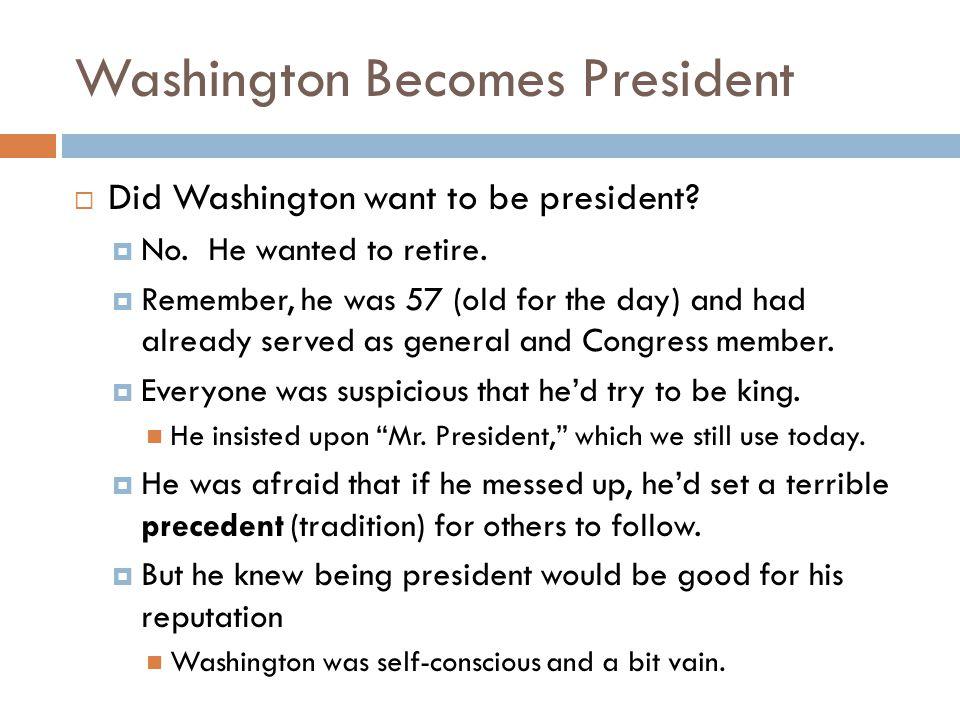 Washington's Advisors  John Adams was vice president.