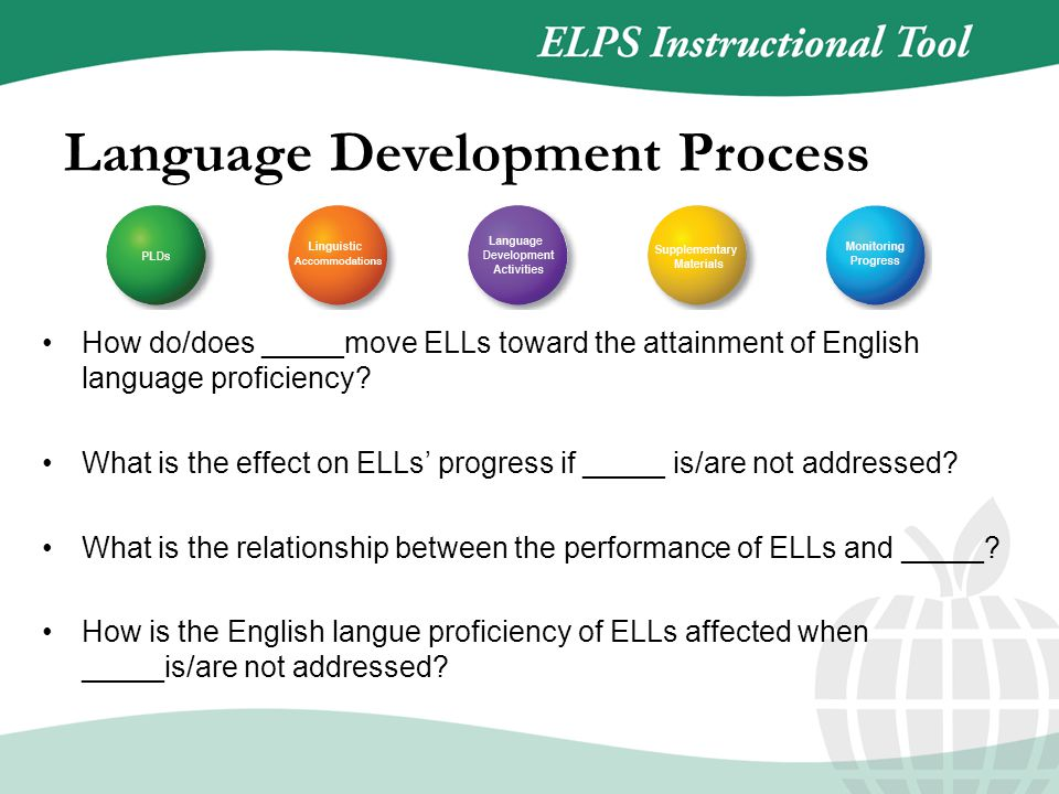 How do/does _____move ELLs toward the attainment of English language proficiency.