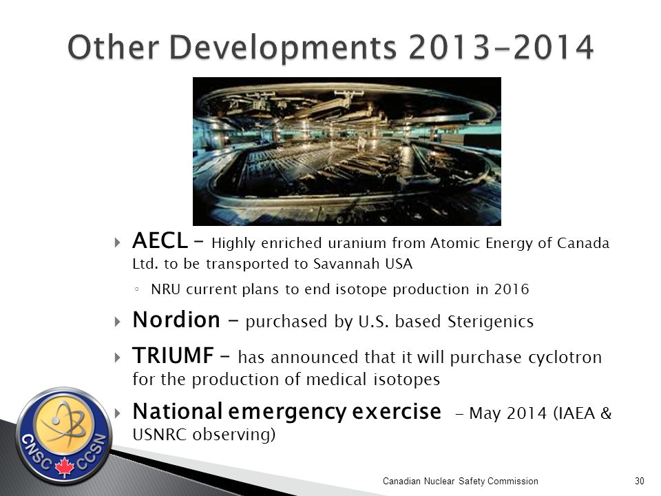  AECL – Highly enriched uranium from Atomic Energy of Canada Ltd.