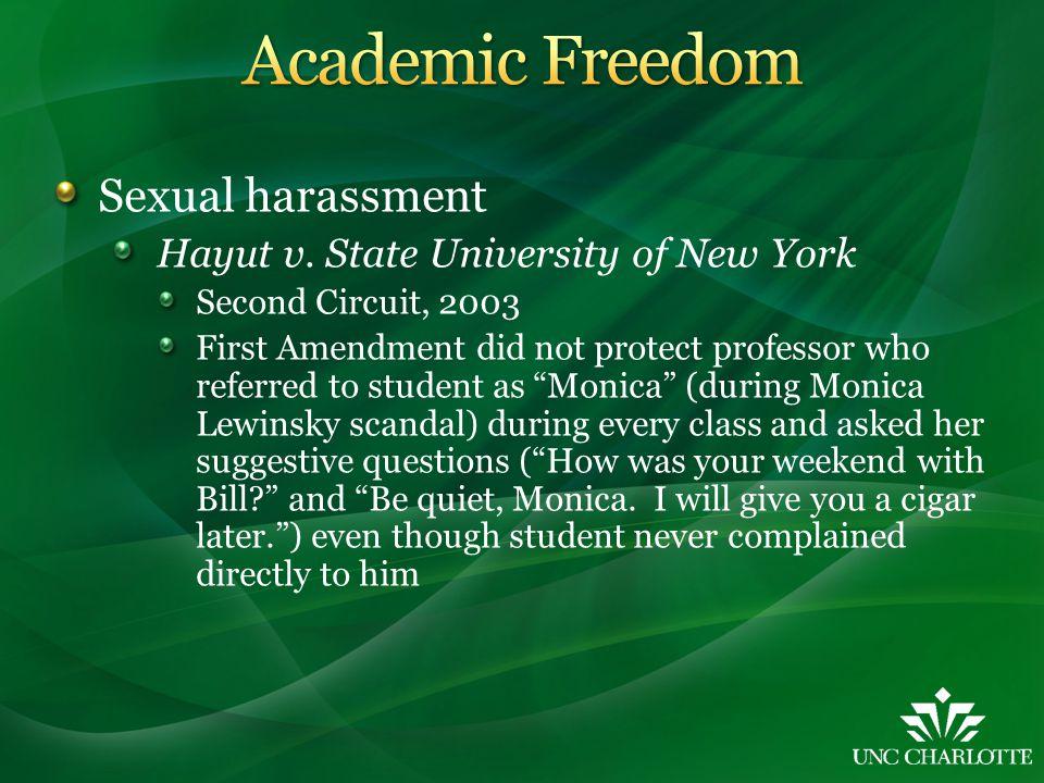 Sexual harassment Hayut v.