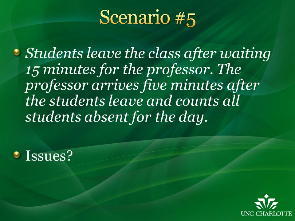 Students leave the class after waiting 15 minutes for the professor.