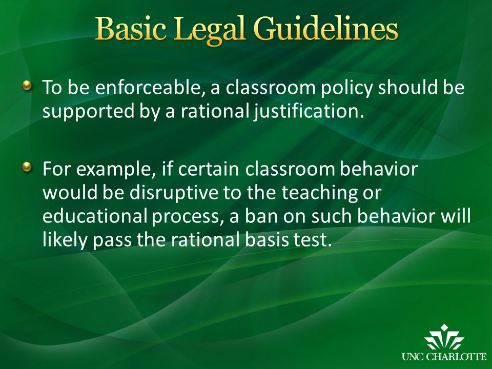 More Syllabus Policy Examples: Prohibit or regulate use of cell phones, smart phones, tablets, or other mobile communication devices in the classroom Prohibit or regulate computer use in the classroom Prohibit sexual harassment in web-based or web- assisted courses Notification if you plan to use Turnitin.com (or another plagiarism detection program)