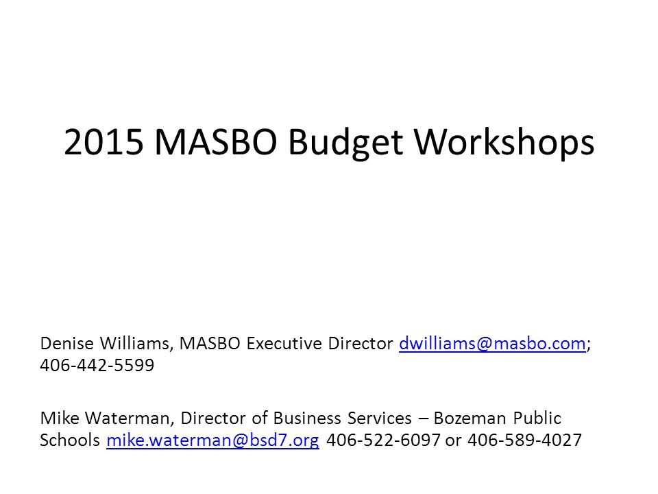 Where the Rubber Meets the Road: Getting to a Balanced Budget Tools in your toolbox: Planning New flexibility options – Increasing General Fund Highest Budget Without a Vote by decreasing other levies – Accessing Tuition Fund for special ed costs – Safety and security transfers – Interlocal/multidistrict agreements