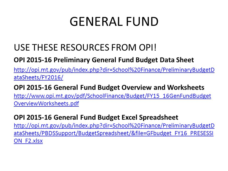 Funding the BASE Budget State Guaranteed Tax Base Aid (GTB) Example District GTB subsidy per millElementary State GTB ratio21.11 Times District GTB Budget Area (FY2015)475,196.48 District Guaranteed tax base for FY2016 budget10,031,397.00 Less District taxable value (estimated using tax year 2014)5,605,331.00 FY2016 GTB subsidy per BASE mill (x.001)4,426.07 This district will receive $4,426.07 for each BASE mill it levies to support the General Fund From state GTB$ 4,426.07 (44%) From district local taxpayers$ 5,605.33 (56%)