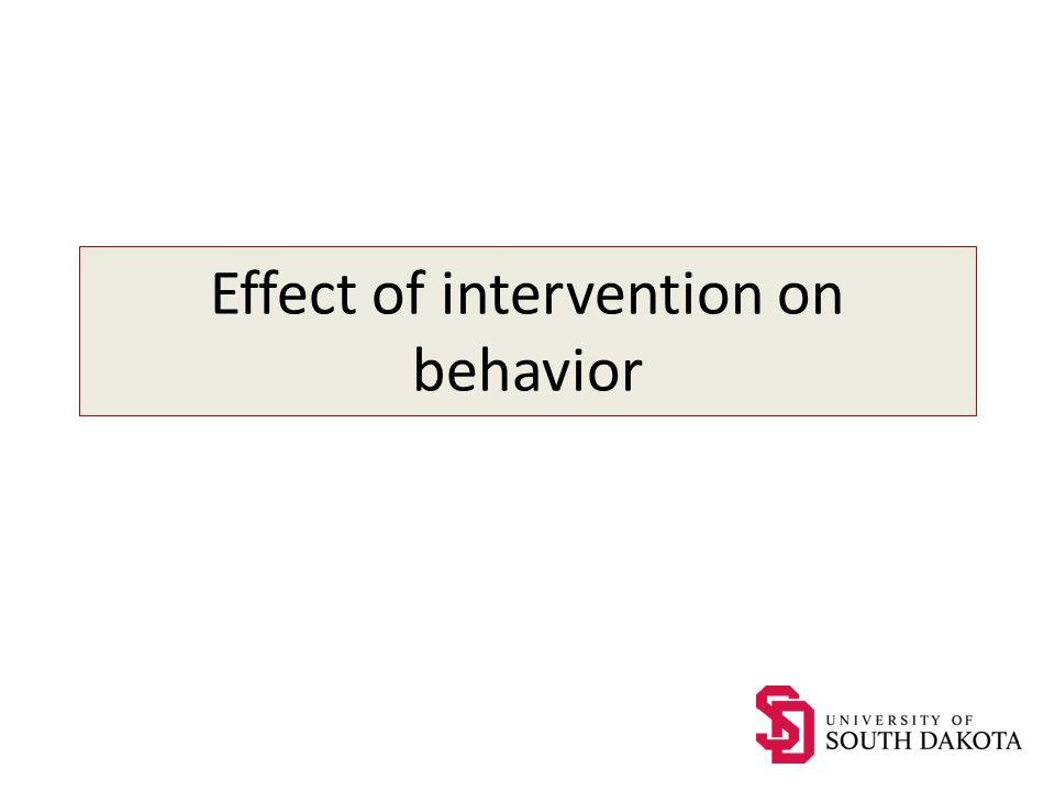 Effect of intervention on behavior