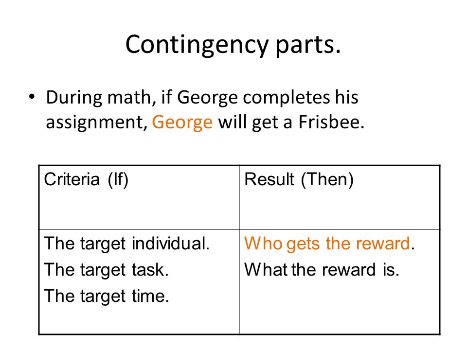 Why an interdependent group contingency.