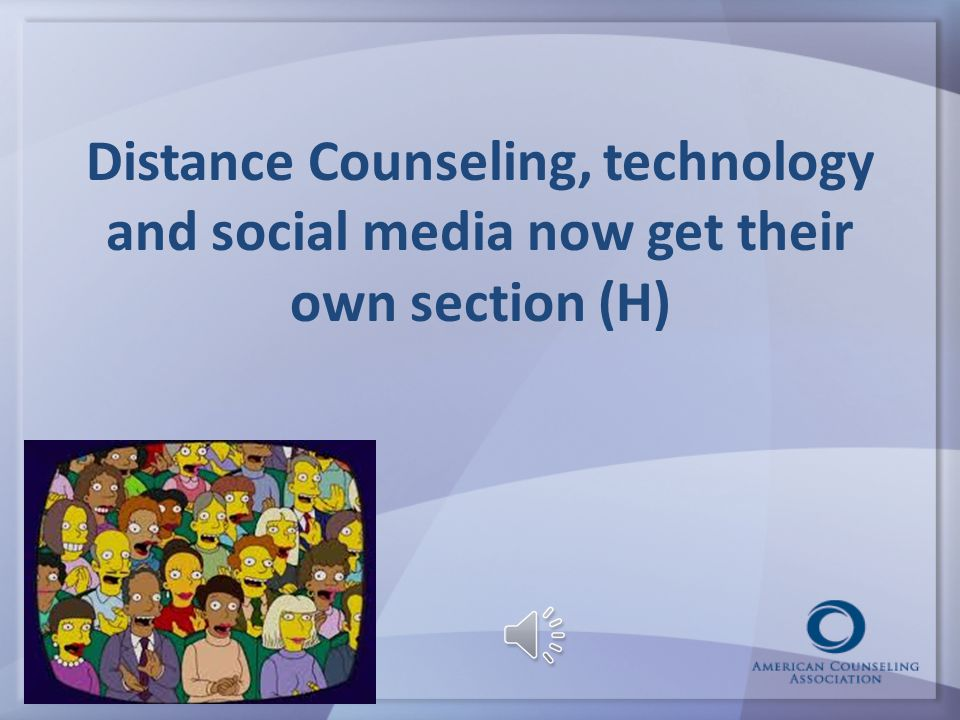 Raising the bar for Social Media & Distance Counseling