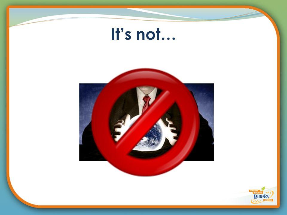 It's not…