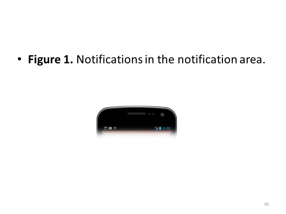Figure 1. Notifications in the notification area. 90