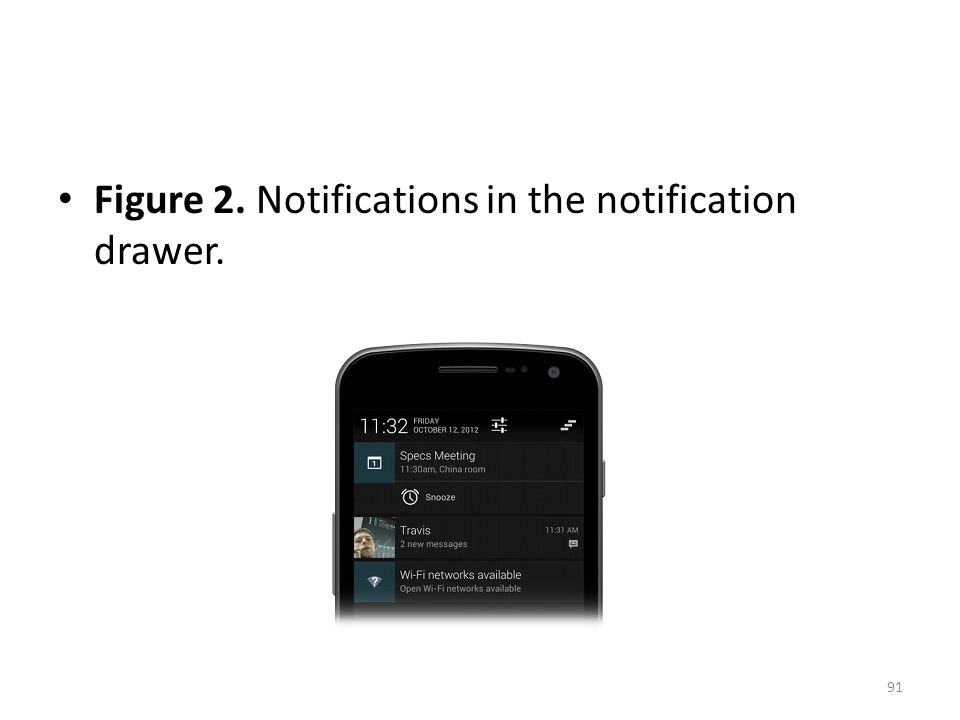 Figure 2. Notifications in the notification drawer. 91