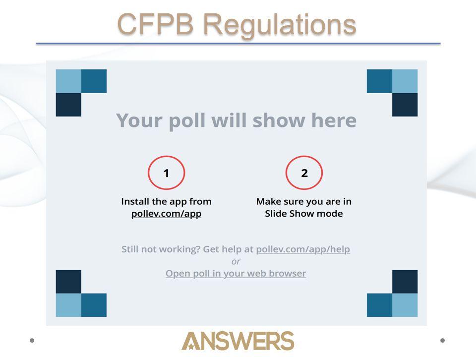 CFPB Regulations