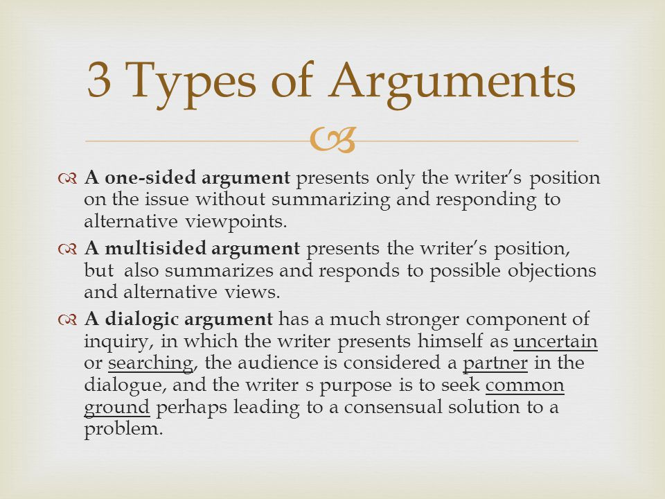   The point is, argument in this scenario may be impossible—but conversation might be on the table.