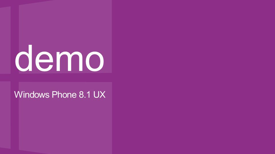demo Windows Phone 8.1 UX