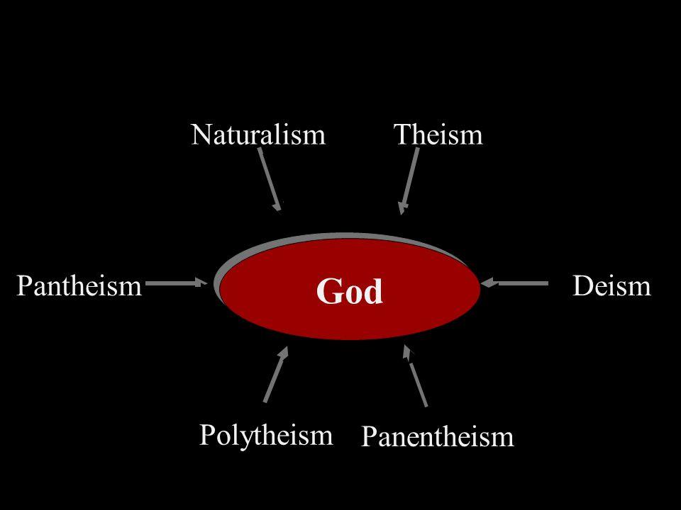 God Pantheism Polytheism Panentheism Deism TheismNaturalism