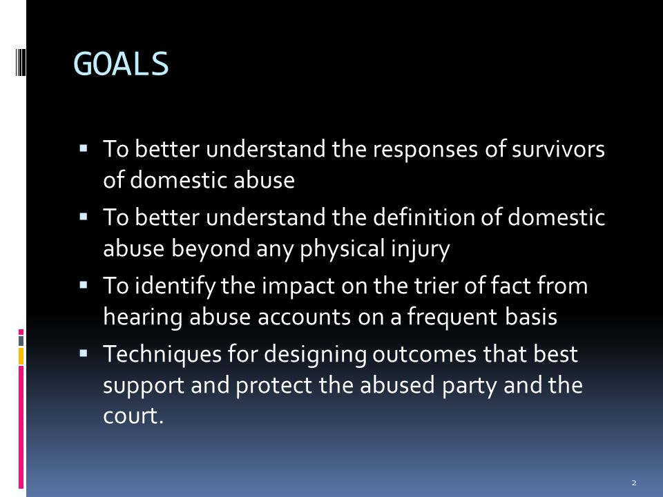Basic Facts  Common denominator for women who are victims of intimate partner violence is that they are female  Psychiatric testing is inappropriate in domestic violence cases  Stalking is a High Danger sign in intimate partner cases 3