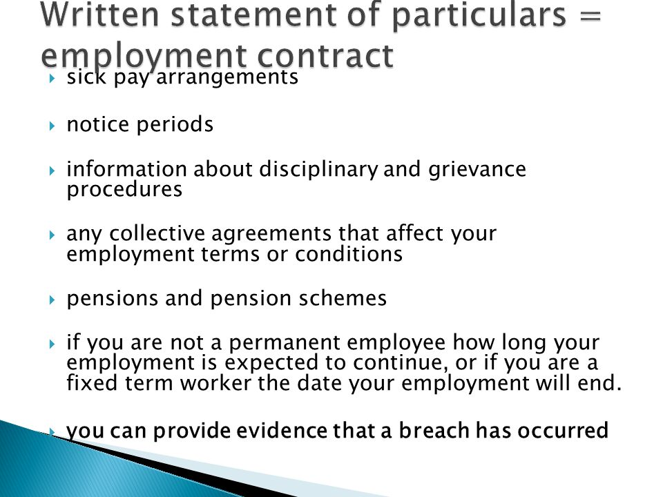  Exceptions to the 1 year continuous employment are where the dismissal is for one of the following reasons:  1.