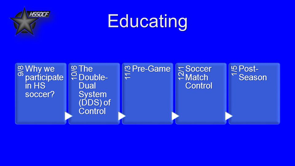 Educating 9/8 Why we participate in HS soccer.