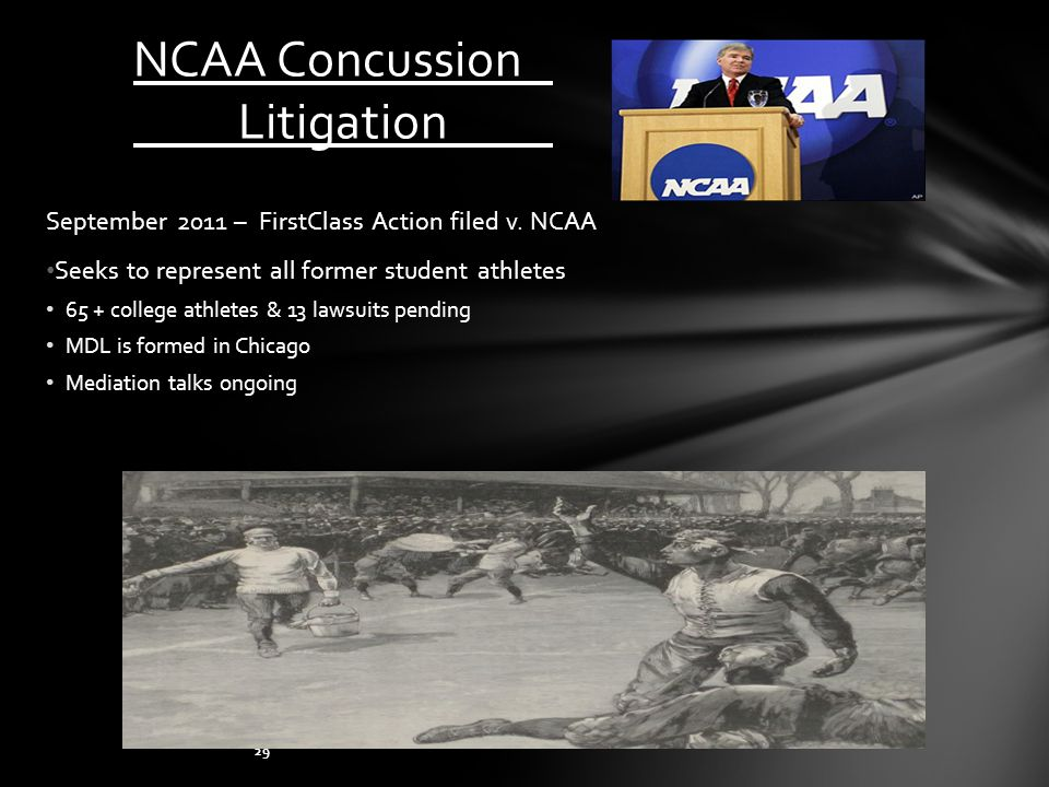 NCAA Concussion Litigation September 2011 – FirstClass Action filed v.