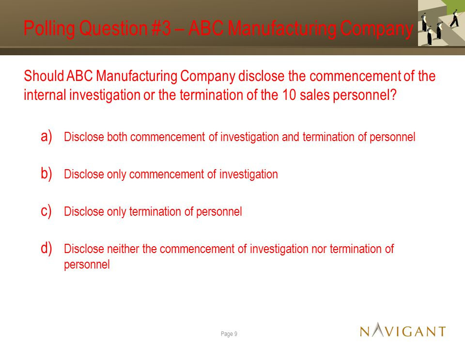 Polling Question #6 – ABC Medical Company At what threshold would the revenue recognized in error be material so that ABC Medical Company should adjust their financial statements.