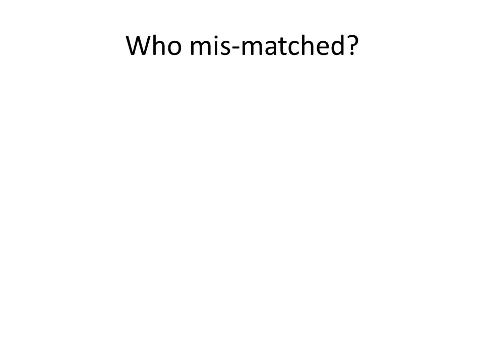 Who mis-matched