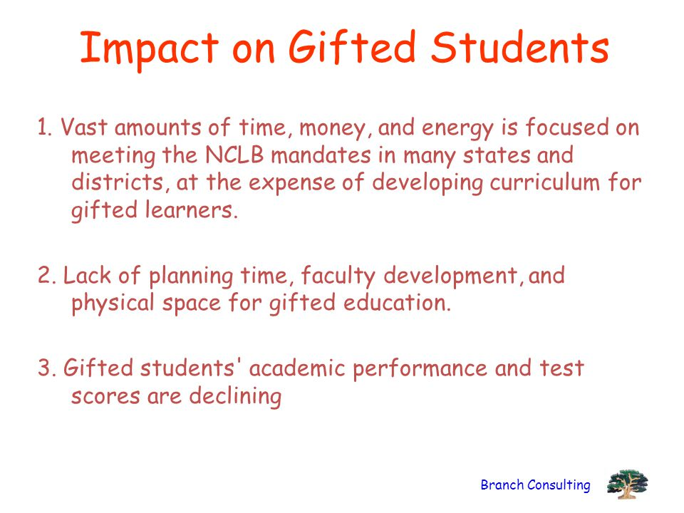 Branch Consulting Impact on Gifted Students 1.