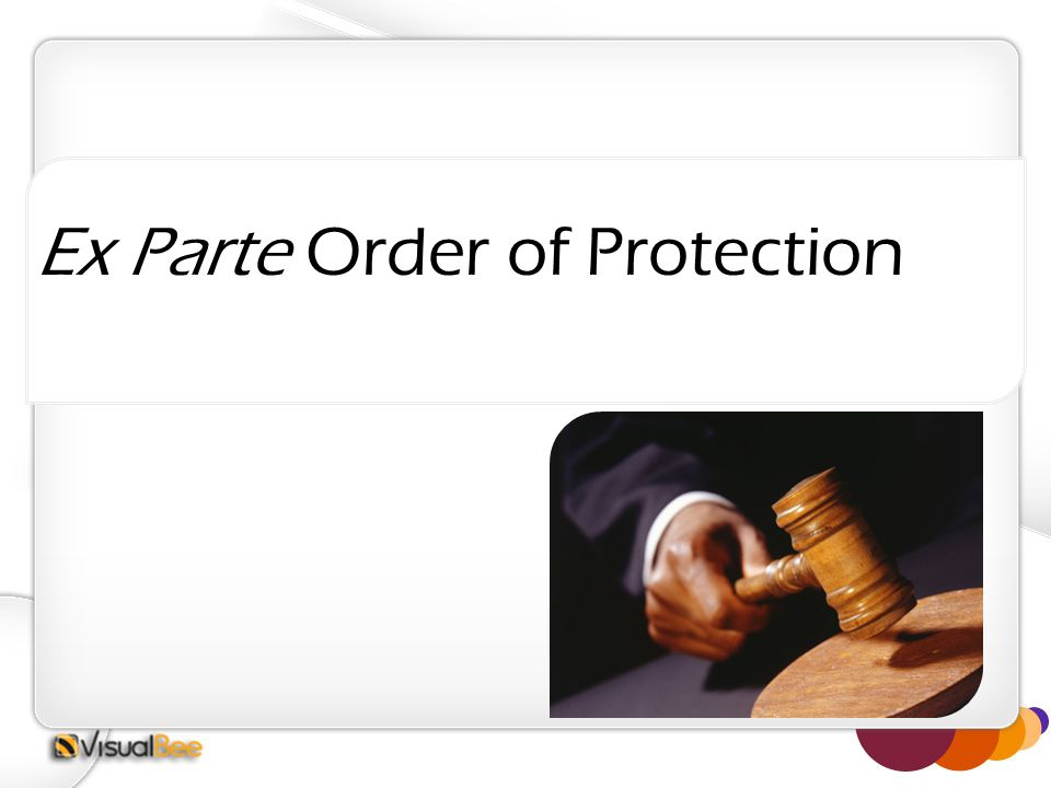 Ex Parte Order of Protection