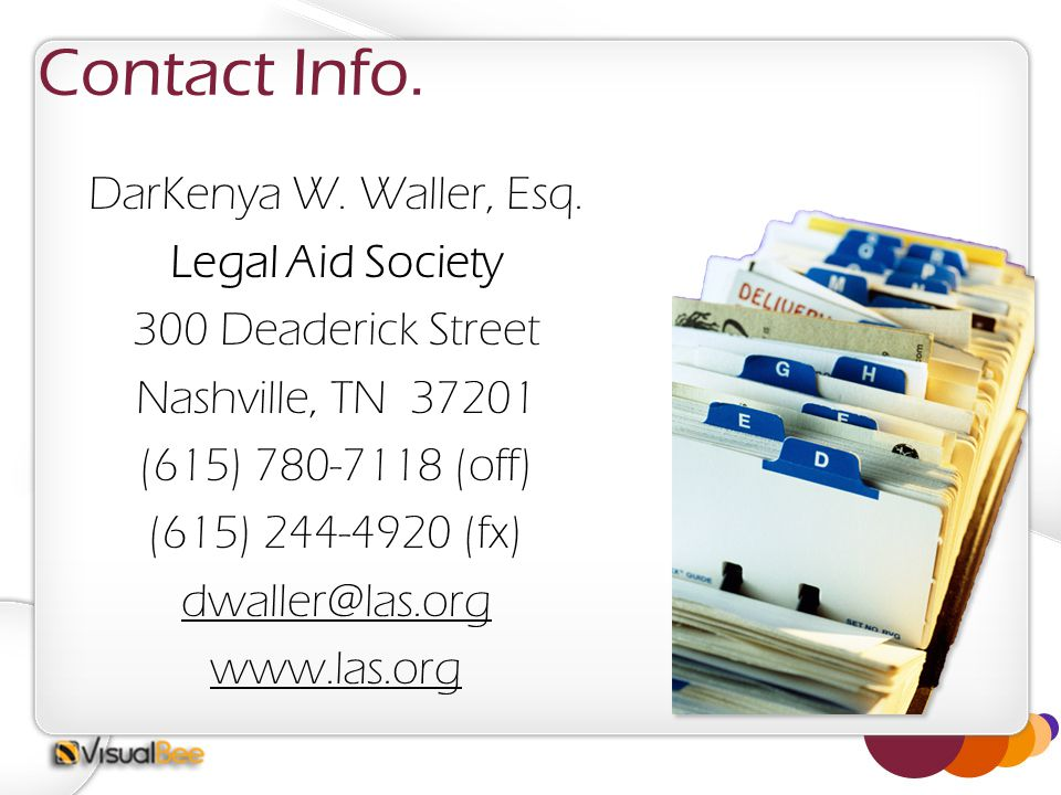 Contact Info. DarKenya W. Waller, Esq.