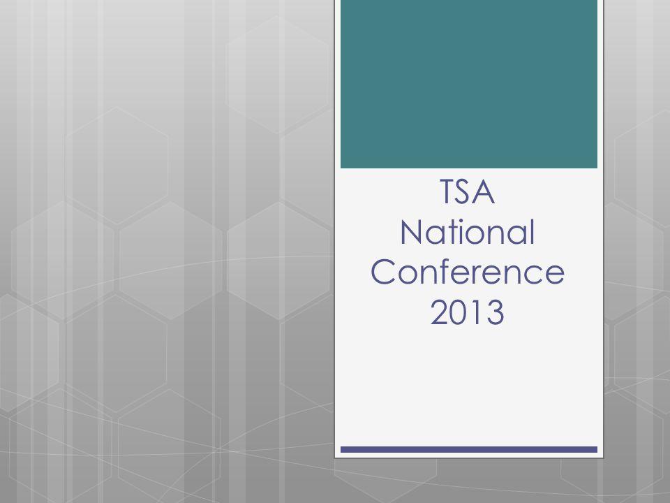 TSA National Conference 2013