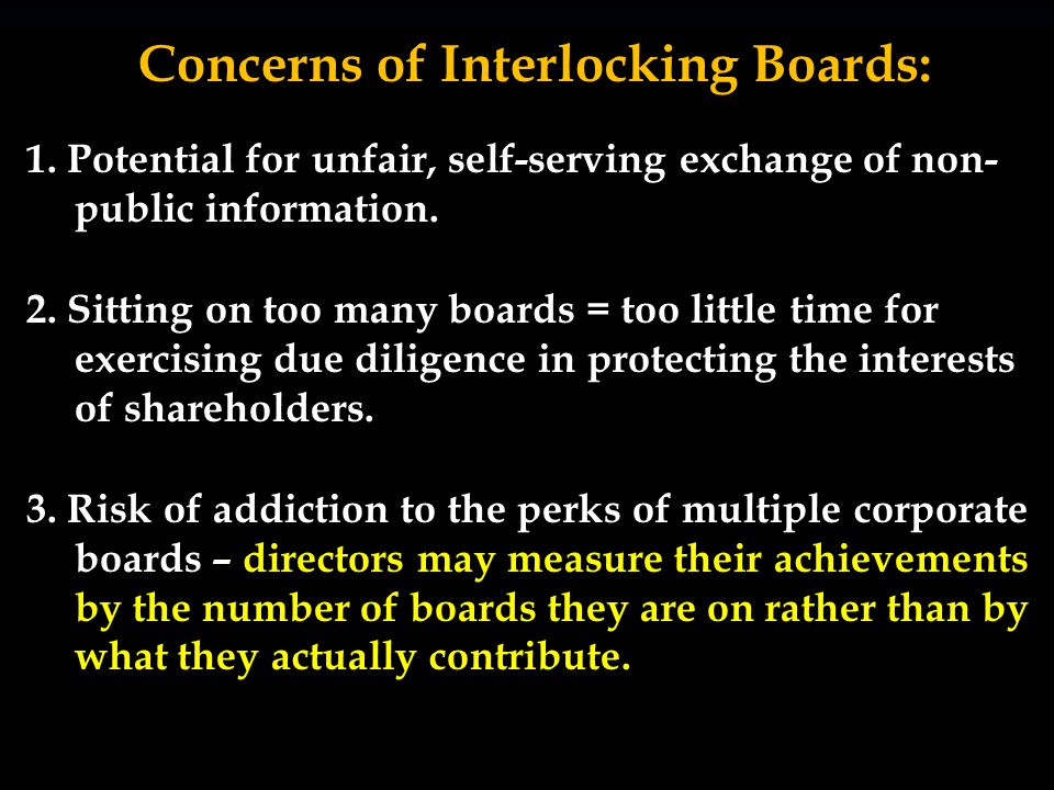 Interlocks are a common practice in the United States – a perpetual concern of the federal government.