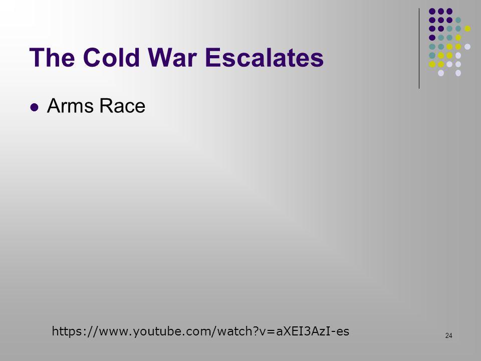 The Cold War Escalates Arms Race 24 https://www.youtube.com/watch?v=aXEI3AzI-es