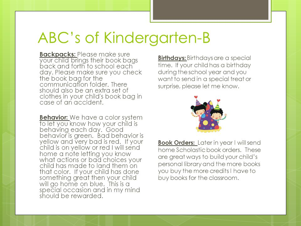 ABC's of kindergarten-C Common Core Standards: CCGPS: Common Core Georgia Performance Standards- State led effort to make sure all students are prepared for college and can compete globally in the job market.