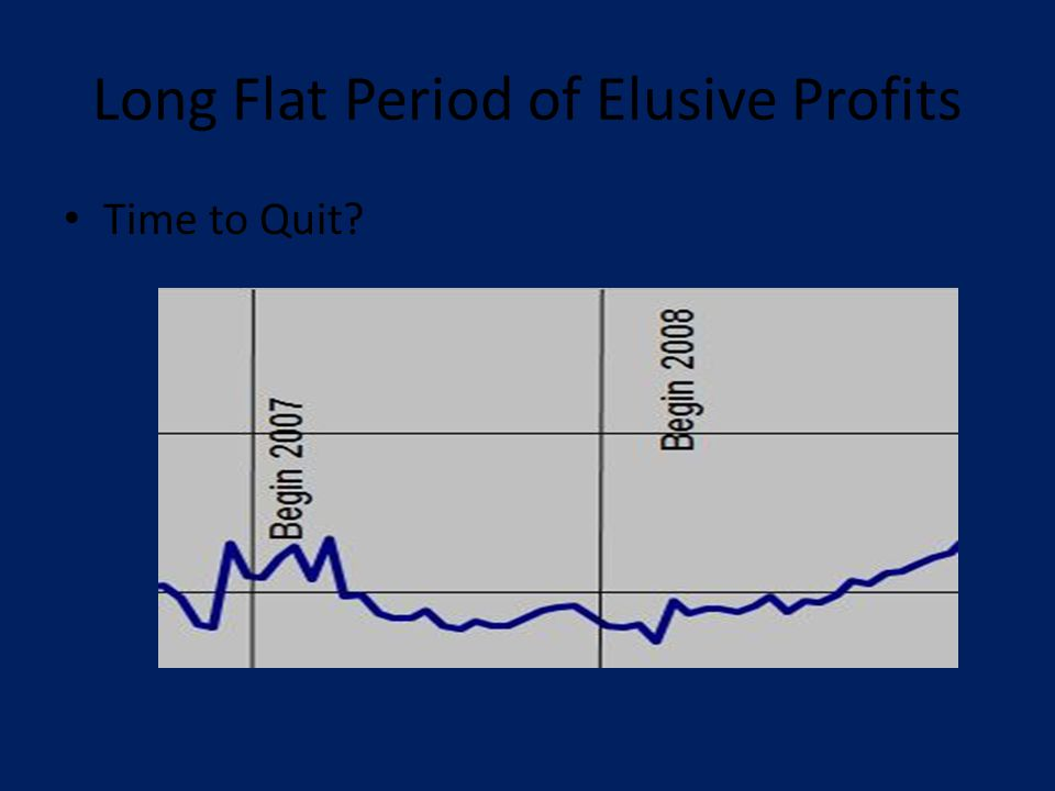 Long Flat Period of Elusive Profits Time to Quit