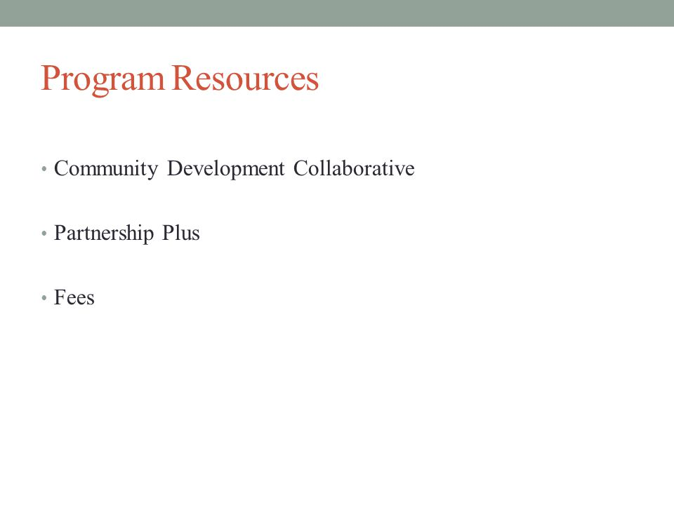 Program Resources Community Development Collaborative Partnership Plus Fees