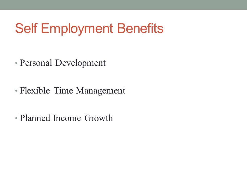 Self Employment Benefits Personal Development Flexible Time Management Planned Income Growth