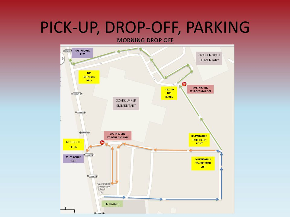 PICK-UP, DROP-OFF, PARKING