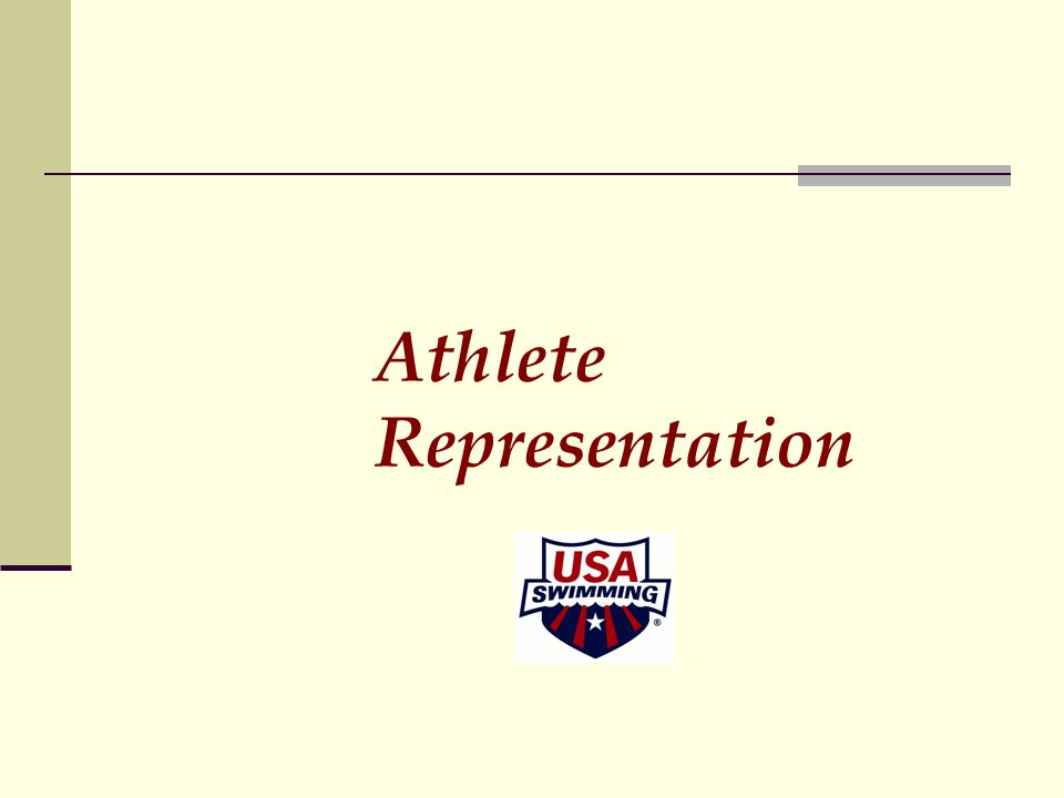 Athlete Representation