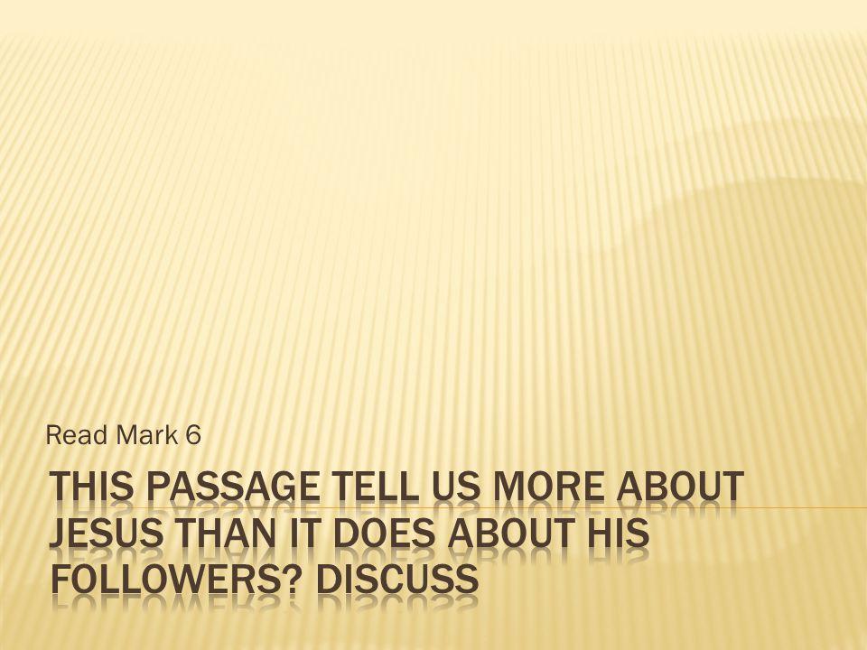 Read Mark 6
