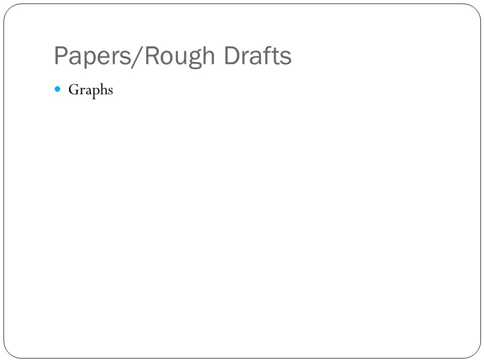 Papers/Rough Drafts Graphs