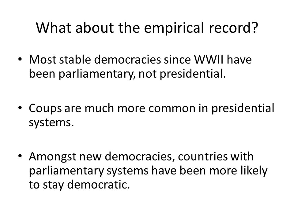 What about the empirical record.