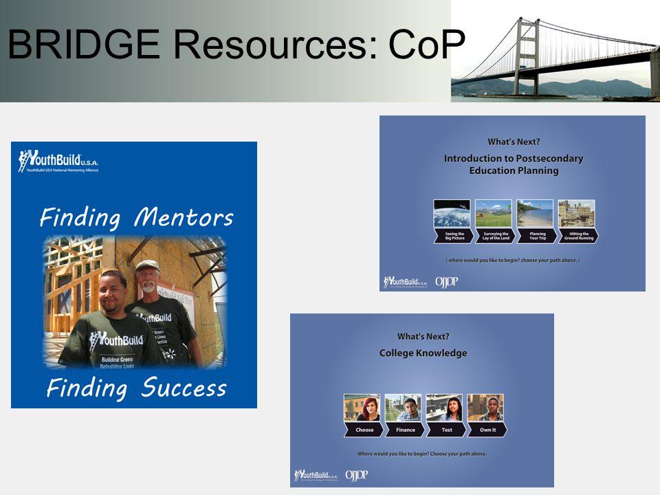 BRIDGE Resources: CoP