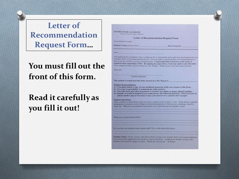 Letter of Rec. Request Form BLUE ONE!