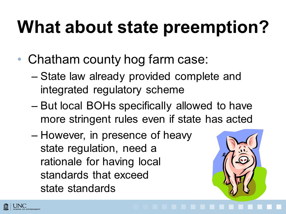 What about state preemption.