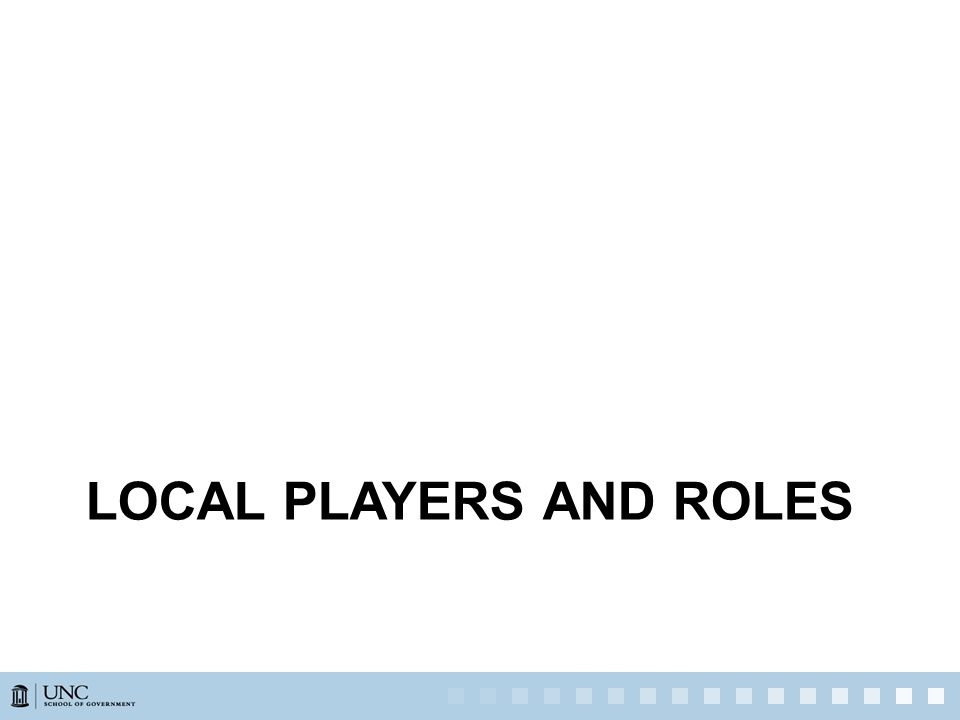 LOCAL PLAYERS AND ROLES