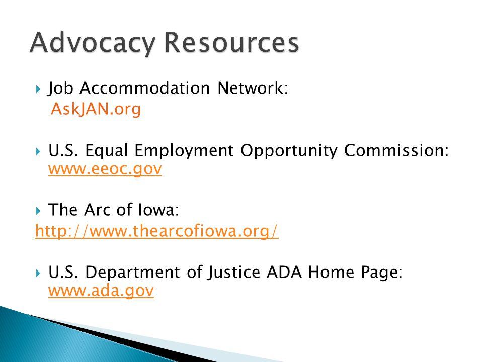  Job Accommodation Network: AskJAN.org  U.S.
